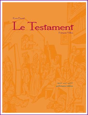 Le Testament 1926 + 1933 versions by Ezra Pound